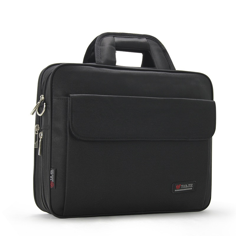 Business Waterproof 14 Inch Laptop Briefcase Travel Black Computer Bag