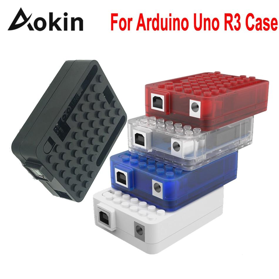 Aokin For Arduino Uno R3 Case Enclosure Case Acrylic Box for Arduino UNO R3 Board One CH340g CH340 Atmega16u2