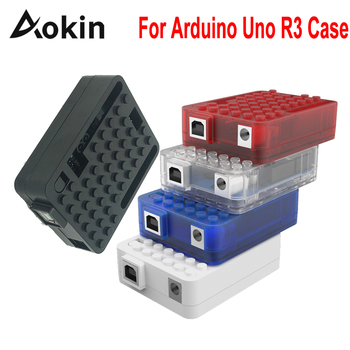 Aokin For Arduino Uno R3 Case Enclosure Case Acrylic Box for Arduino UNO R3 Board One CH340g CH340 Atmega16u2 uno r3 ch340g mega328p smd chip 16mhz for arduino uno r3 development board usb cable atega328p one set