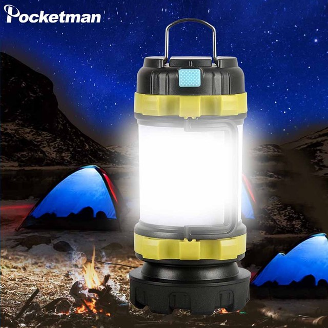 Camp Lamp LED Camping Light USB Rechargeable Flashlight Dimmable Spotlight Work Light Waterproof Searchlight Emergency Torch 1