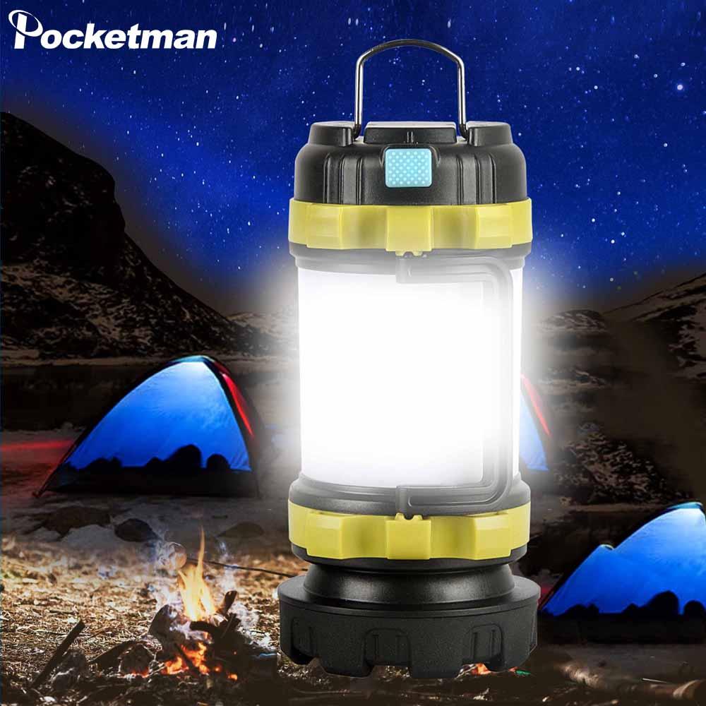 Lampada Da campeggio Luce di Campeggio del LED USB Torcia Elettrica Ricaricabile Dimmable del Riflettore della Luce del Lavoro del Faro Impermeabile Della Torcia Di Emergenza