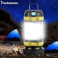 Lampe de Camping LED lumière de Camping lampe de poche Rechargeable USB projecteur réglable lumière de travail projecteur étanche torche de secours