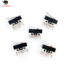 3D Printer Accessories 10pcs/lot End stop Micro Limit Switch for I3 Delta Kossel Makerbot Printer RAMPS 1.4 DIY 3d printer parts(China)