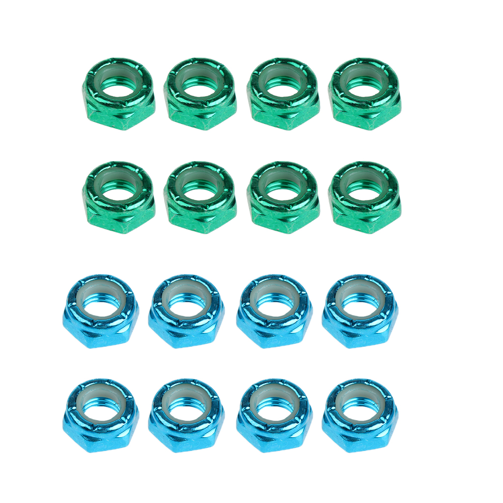 16pcs Carbon Steel Axle Nuts For Skateboard Longboard Trucks Men & Women Skateboarding Accessories Dropshipping
