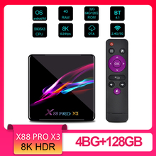 X88 PRO X3 8K TV Box Amlogic S905X3 Android 9.0 Remote Contr