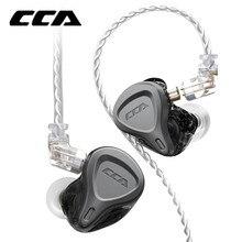 Cca csn 1ba + 1dd fone de ouvido híbrido intra auricular monitor de fones de ouvido hifi redução de ruído kz zsnpro zst zsx zs10pro cca c12