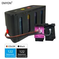 DMYON 122 Sistema de Abastecimento Contínuo de Tinta Compatível para HP Deskjet 122 1000 1050 2000 2050 3000 3050A 3052A 4500 5530 4630 de Impressora|sistema de fornecimento contínuo de tintas|   -