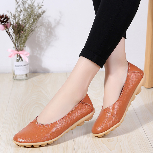 CEVABULE 2019 Autumn New Peas Shoes Comfortable Pregnant Women Shoes Large Size Mother Shoes Daily Flat Shoes Women CQY-C5928