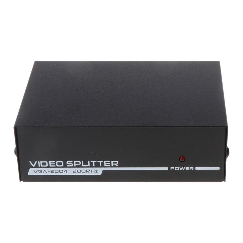 Honest 4 Port Vga Frequency Divider 200hz Video Splitter High Frequency 1600*1280 25m