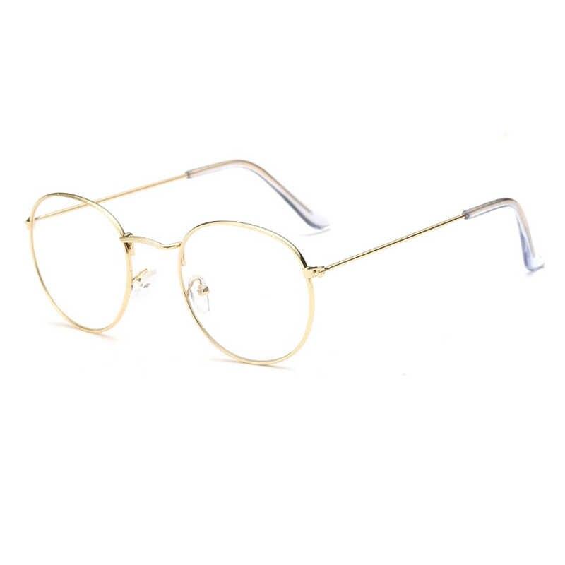 Lunettes d'ordinateur 2020 lunettes rétro cadre Anti lumière bleue jeu lunettes lunettes cadre femmes optique rond clair lentille lunettes