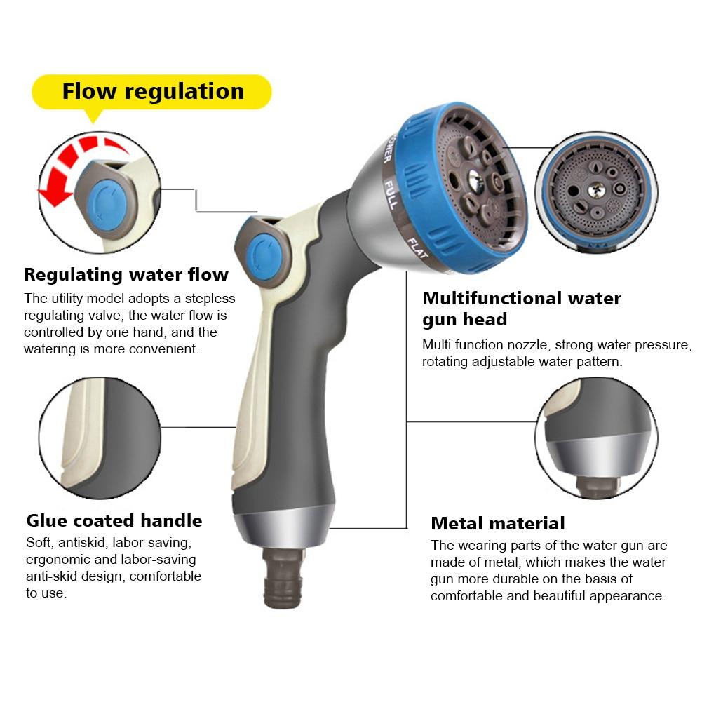 Reinigung Werkzeuge Rasen Wasser Sprayer Hochdruck Sprinkler 8 Muster Waschen Handheld Bewässerung Daumen Control Haushalts Tragbare