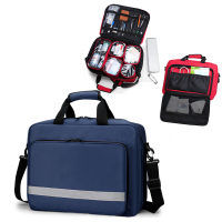 First Aid Bag with Shoulder Strap Compact Portable for Medical Responder Emergency Kit Home Outdoor Travel Camping Activities