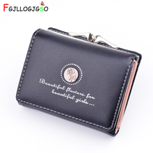 Brand Designer Small Wallets Women Leather Phone Wallets Female Short
