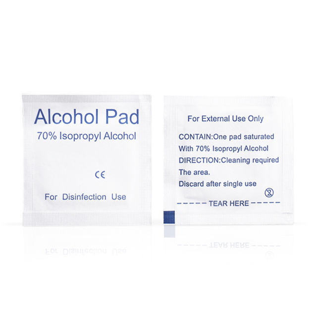 100Pcs Alcohol Pad Disinfection Disposable Cleaning Sterilization First Aid Wipe for Face Mouth Mask 3