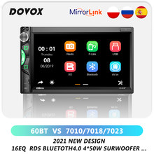 DOVOX Auto Radio 2din 7inch Touchscreen Mp5 Multimedia Player Bluetooth Spiegel link USB AM FM Kamera Autoradio 2 din Auto Stereo