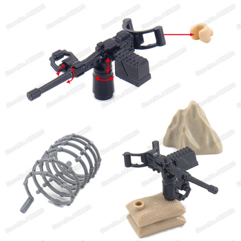 Military M2 Guns Figures Weapons Army WW2 Building Block Soldier Battlefield Diy Model Moc Child Christmas Gift Educational Toys