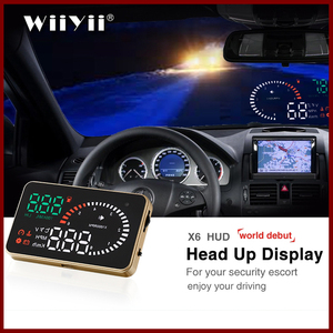 GEYIREN X6 Car HUD OBD II Head Up Display Overspeed Warning System Projector Windshield Auto Electronic Voltage Alarm(China)