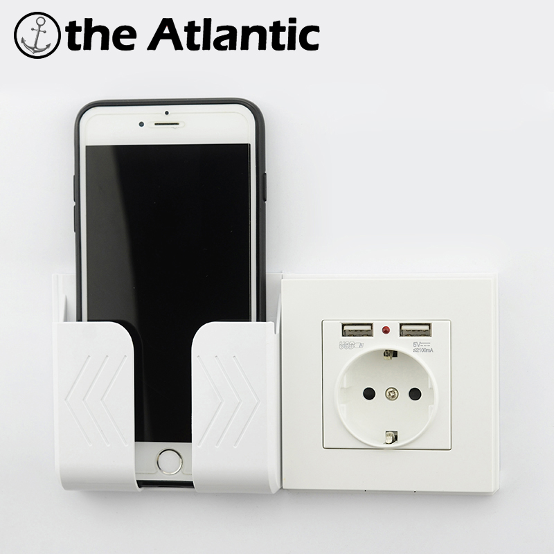 Wall Socket Power 16A EU Standard Outlet With 2A Dual USB Charger Port For Mobile Phone White Plastic USB Socket Power
