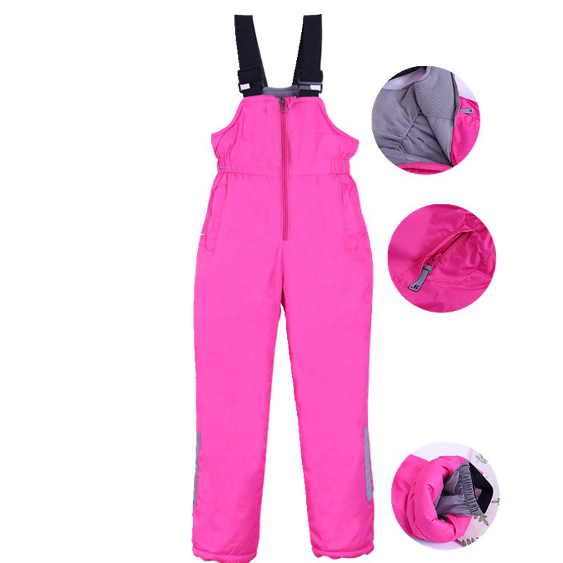 Winter Ski Pants Girls Waterproof Outdoor Snowboard Trousers Children Snow Pant Pantalon De Nieve Warm Windproof Skiing Overalls