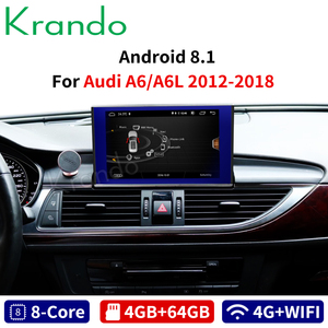 Krando Android 10.0 4+64GB for Audi A6 A6L 2012-2018 8.4'' Car Radio Dvd Navigation Multimedia Player With Bluetooth