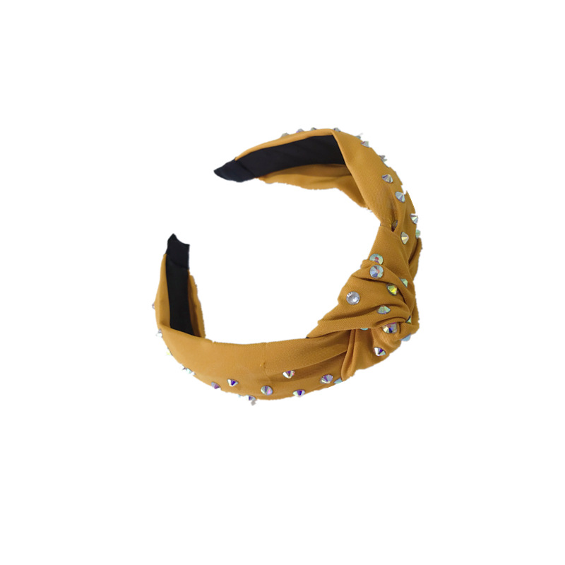 New Fashion Solid color Headband Rhinestone Hairband Girls Middle Knot Hair Band Adult Shining Classic Turban Hair Accessories in Women 39 s Hair Accessories from Apparel Accessories