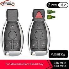 KEYECU Xhorse VVDI SEIN Schlüssel Pro Verbesserte Version Komplette Fern Schlüssel 315MHz/433MHz 3 / 3 + 1 / 4 taste für Mercedes-Benz