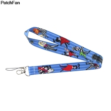 Lanyard Webbing Ribbon Horror Necklace-Accessory Keychain Fabric-Id Patchfan A2739 Badge-Holders