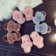 2019 Spring And Autumn New Boys Girls Cotton Slippers Cartoon Doll Parenting Home Cute Children Tow