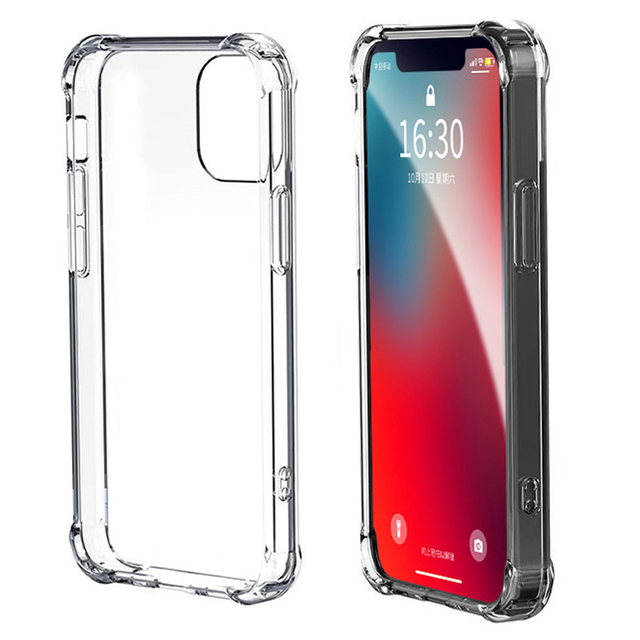 Shockproof Phone Case For iPhone 12 11 Pro Max Xs X Transparent Silicone Case For iPhone 7 8 Plus SE 2020 XR 12 Cases Back Cover 6