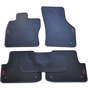 Custom No Odor Carpets Waterproof Rubber Car Floor Mats for 2003-2019 Year Audi A3