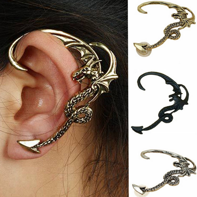 Daenerys Targaryen Game Of Thrones Daenerys Targaryen Dragon Ear Studs Earrings Gothic Retro Cosplay Accessories For Men