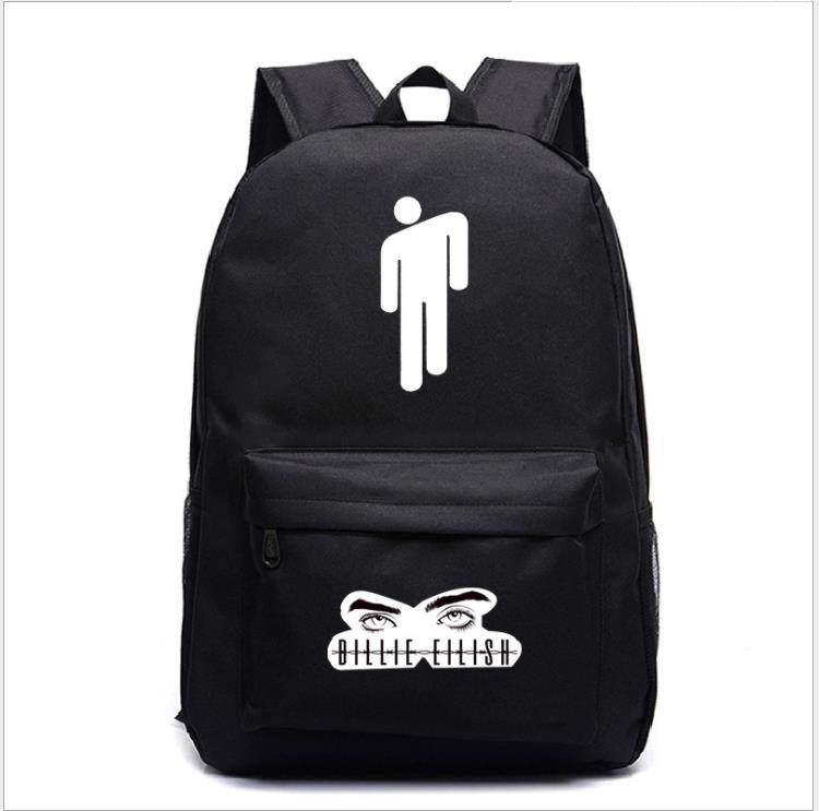 Billie Eilish Backpacks Women/Men's School Bags Laptop Travel Bags Teenage Notebook Backpack Fashion Nylon Mochila Machila Bag