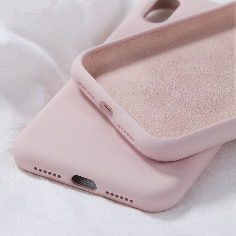 Original Soft Liquid Silicone Rubber <font><b>Case</b></font> for <font><b>iPhone</b></font> 8 7 6 <font><b>6S</b></font> Plus <font><b>Cases</b></font> for <font><b>iPhone</b></font> X XS Max XR Back <font><b>Phone</b></font> Cover Without Logo image