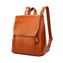 BELLELIFE High Grade Vintage Leather Backpack for Women Large Capacity Backpacks Teenager School Bag Female Bagpack mochila