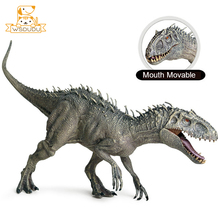 Moving Mouth Tyrannosaurus Rex Action Figures Toys Dinosaur Dragon Animal Figurines Dolls Decor Cool Model Boys Collection Gifts