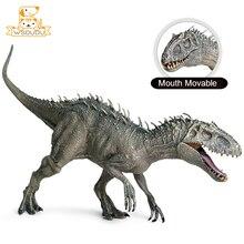 تتحرك الفم Tyrannosaurus ريكس عمل أرقام اللعب ديناصور التنين تماثيل صغيرة على شكل حيوانات دمى ديكور كول نموذج الأولاد جمع الهدايا