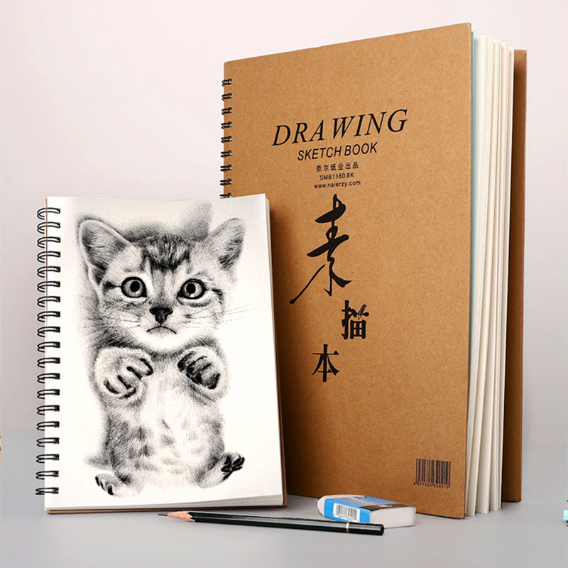 Thicken Backboard A4 Sketchbook 30 Sheets Drawing Paper Graffiti Hand Painting Sketchbooks for Drawing Art Supplies Stationery