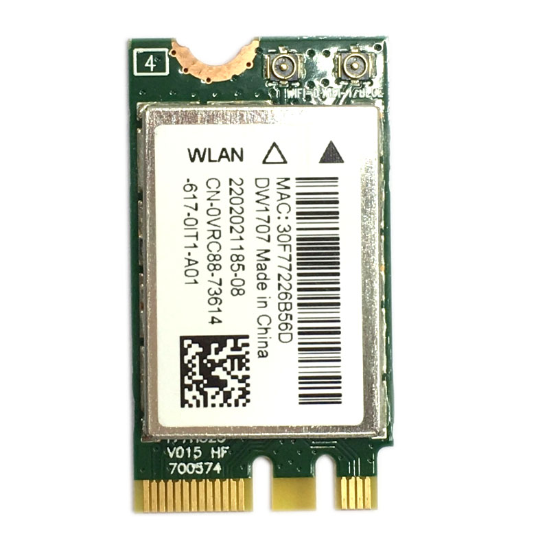FOR Dell Wireless DW1707 WLAN WiFi 802.11 B/g/n + Bluetooth 4.0 NGFF Card VRC88  Latitude 3340 E5250 3550 E7250 E7450