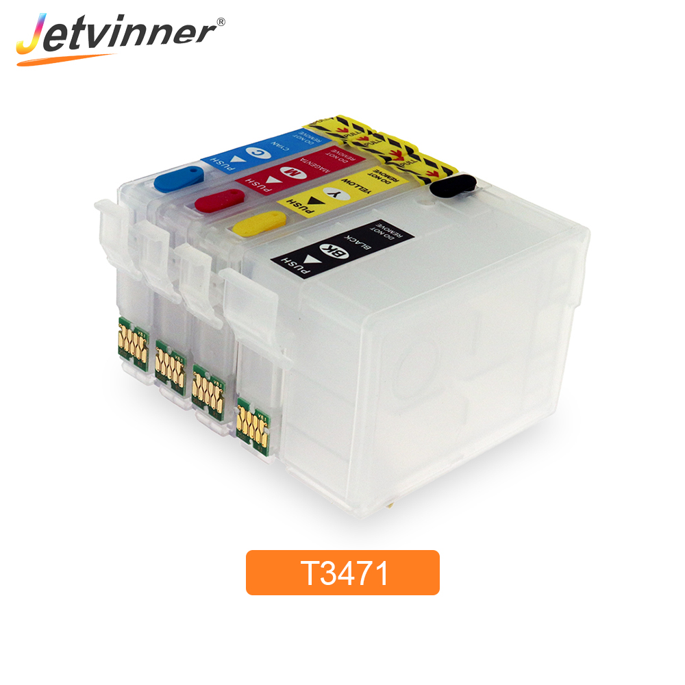 T34XL T3471 - T3474 Refillable Ink Cartridge With ARC Chips For Epson Workforce Pro WF-3720 WF-3725 Printer For Europe Printers