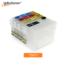 цена на T34XL T3471 - T3474 Refillable Ink Cartridge with ARC Chips for Epson Workforce Pro WF-3720 WF-3725 Printer For Europe Printers