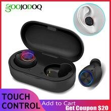 Auriculares TWS, inalámbricos por Bluetooth 5,0, Auriculares deportivos TWS iPX5 Táctiles con micrófono