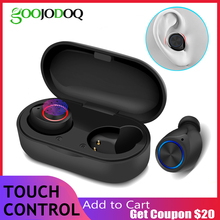 Wireless Headphones Bluetooth Earphone 5.0 Touch Bluetooth Headset TW60 TWS iPX5 Bluetooth Sports Earphones With mic