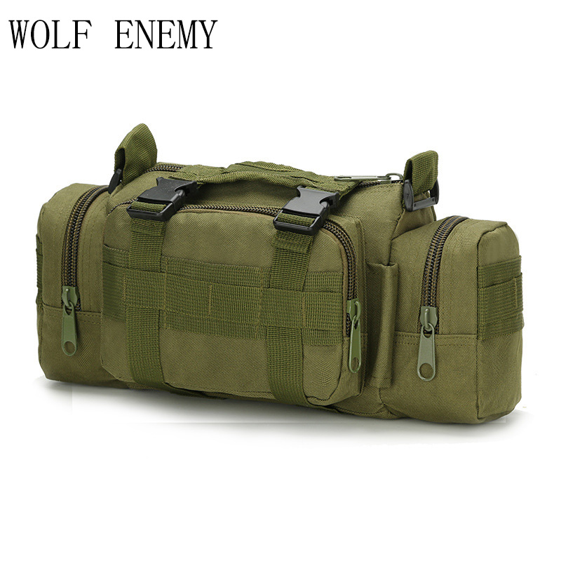 Newest Outdoor Military Tactical Waist Pack Shoulder Molle Camping Hiking Pouch Hunting Bags image