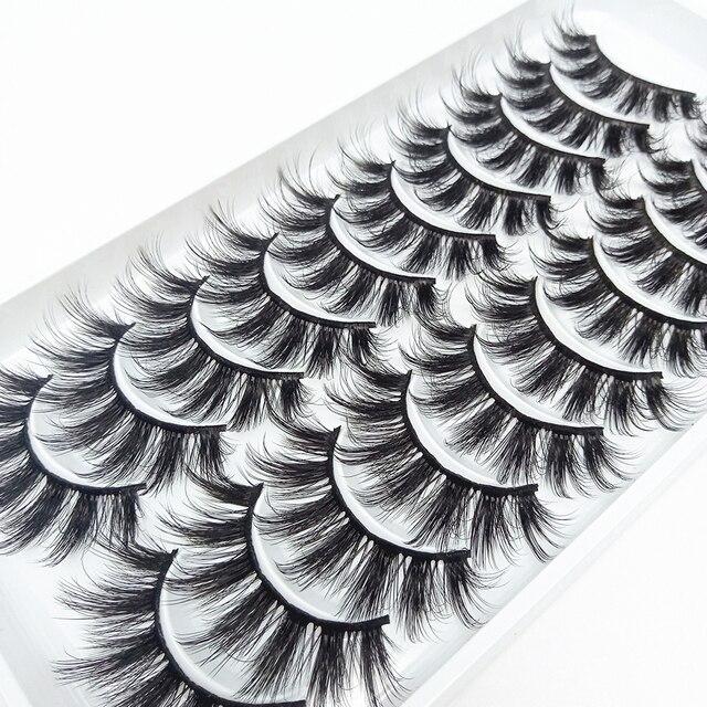 5/10Pairs HandMade Mink Eyelashes Makeup 3D Mink Lashes Natural False Eyelashes Long Eyelashes Extension 5 Pairs Fake Eyelash Beauty & Health