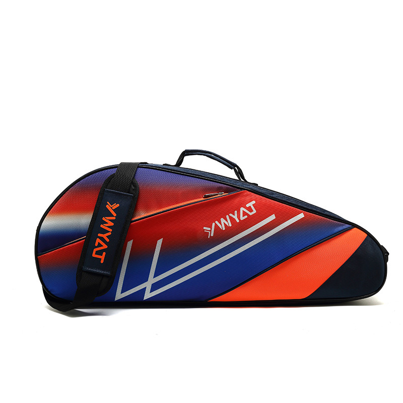 Single Shoulder Badminton Bag Waterproof Thicken Racket Sport Bags Badminton Training Gymbag Can Hold 3-6 Pieces Rackets