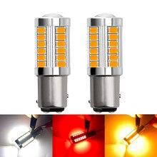 2X 1157 P21/5 Вт BAY15D PY21W BA15S P21W 33 SMD 5630 5730 светодиодный Автомобильные стоп-сигналы противотуманных фар автомобиля противотуманные фары стоп лампы ...