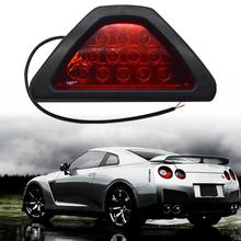 цена на Rear warning light Car and motorcycle LED rear fog lights F1 triangle LED brake warning lights strobe lights rear tail lights