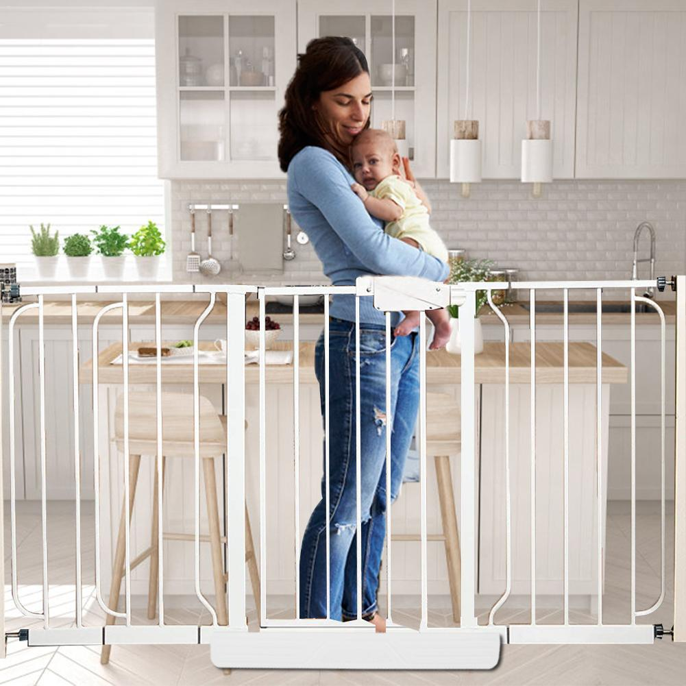 Pet Dog Fences Gate Folding Safety Pet Isolated Network Playpen For Dog Cat Baby Isolated Home Door Fence Cage Pet Accessories