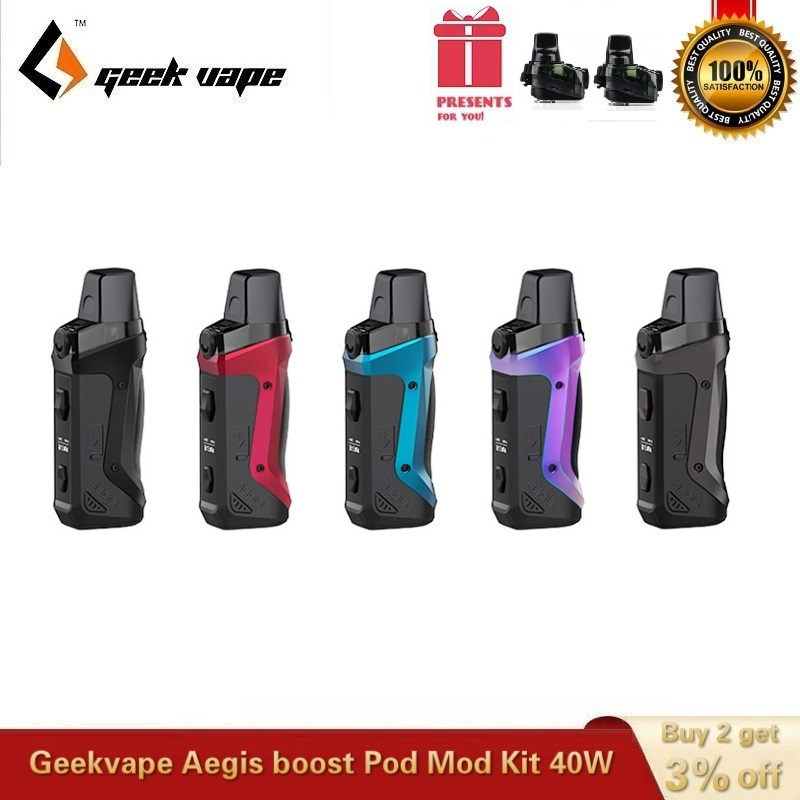 Original Geekvape Aegis Boost Pod Kit Built-in 1500mah Battery With 3.7ml Vape Cartridge MTL DTL Vaping Kit Vs Aegis Solo