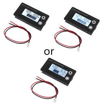 Indicador de capacidad de la batería medidor de voltaje de voltímetro ternario, CC, 8V 100V, ácido de plomo, litio, LiFePO4, 12V, 24V, 48V, 72V|Testers de baterías|   -